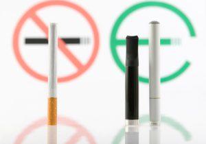No smoking tobacco, smoking e-cigarette.